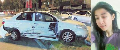 Ana Dahlia Kemalangan Kereta di Jalan Genting Klang