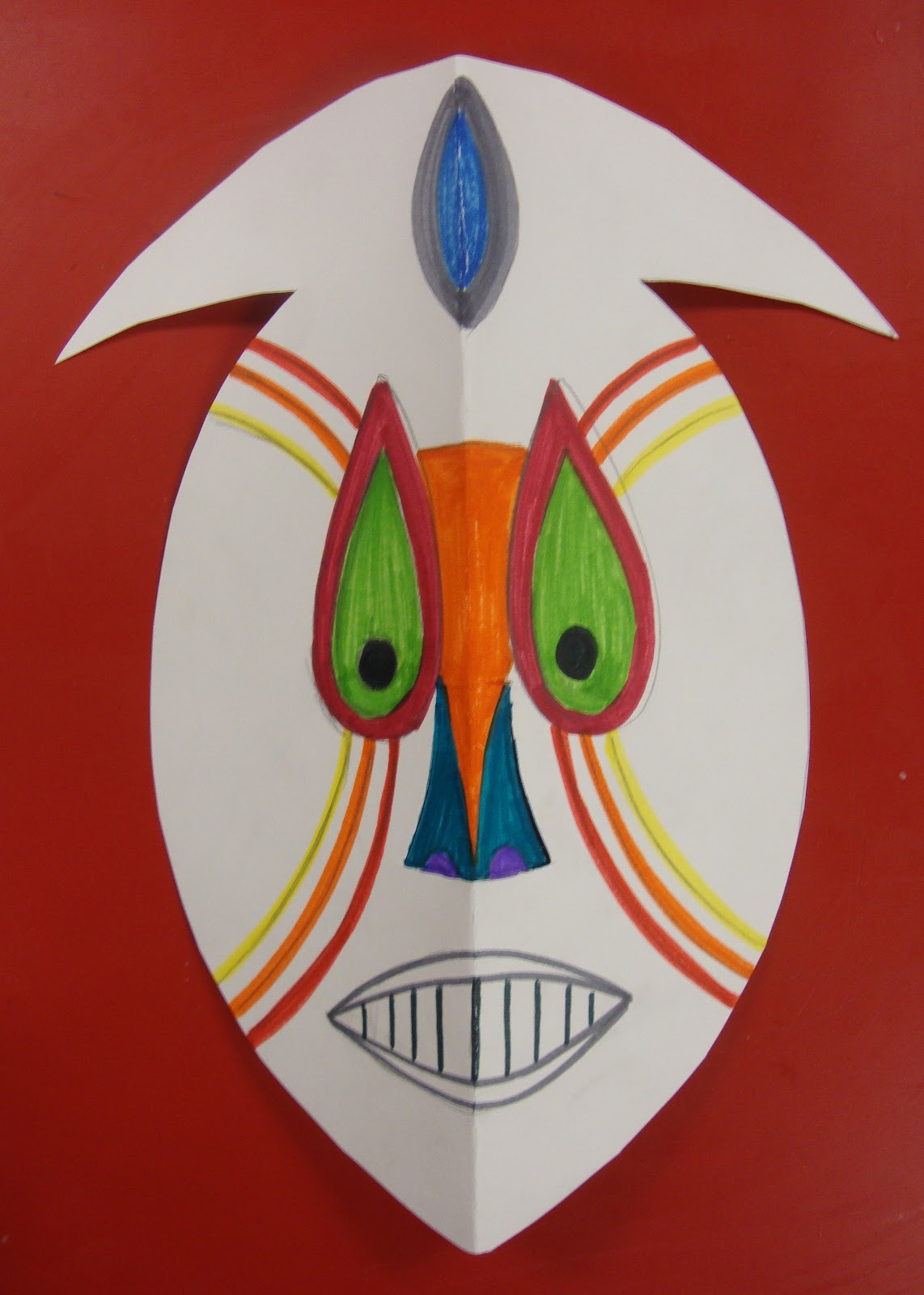 African Masks Drawings Draw And Design Mask
