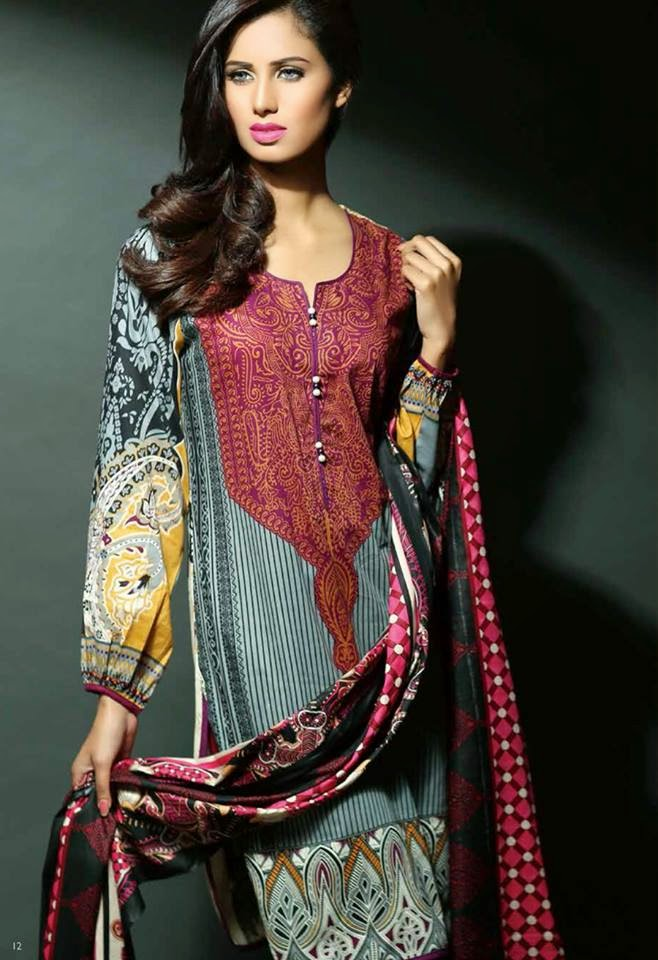 Pakistani summer lawn collection 2015
