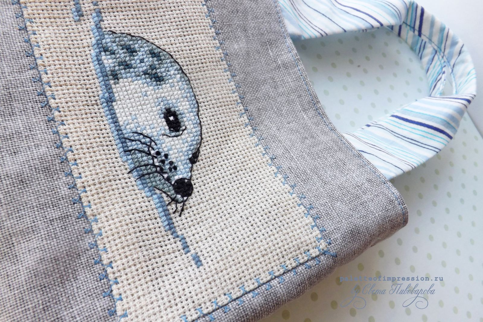 Детская сумочка с вышивкой. Морской котик, или тюлень. Rico design. Блог Вся палитра впечатлений