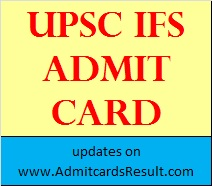 Indian Forest Service Admit card