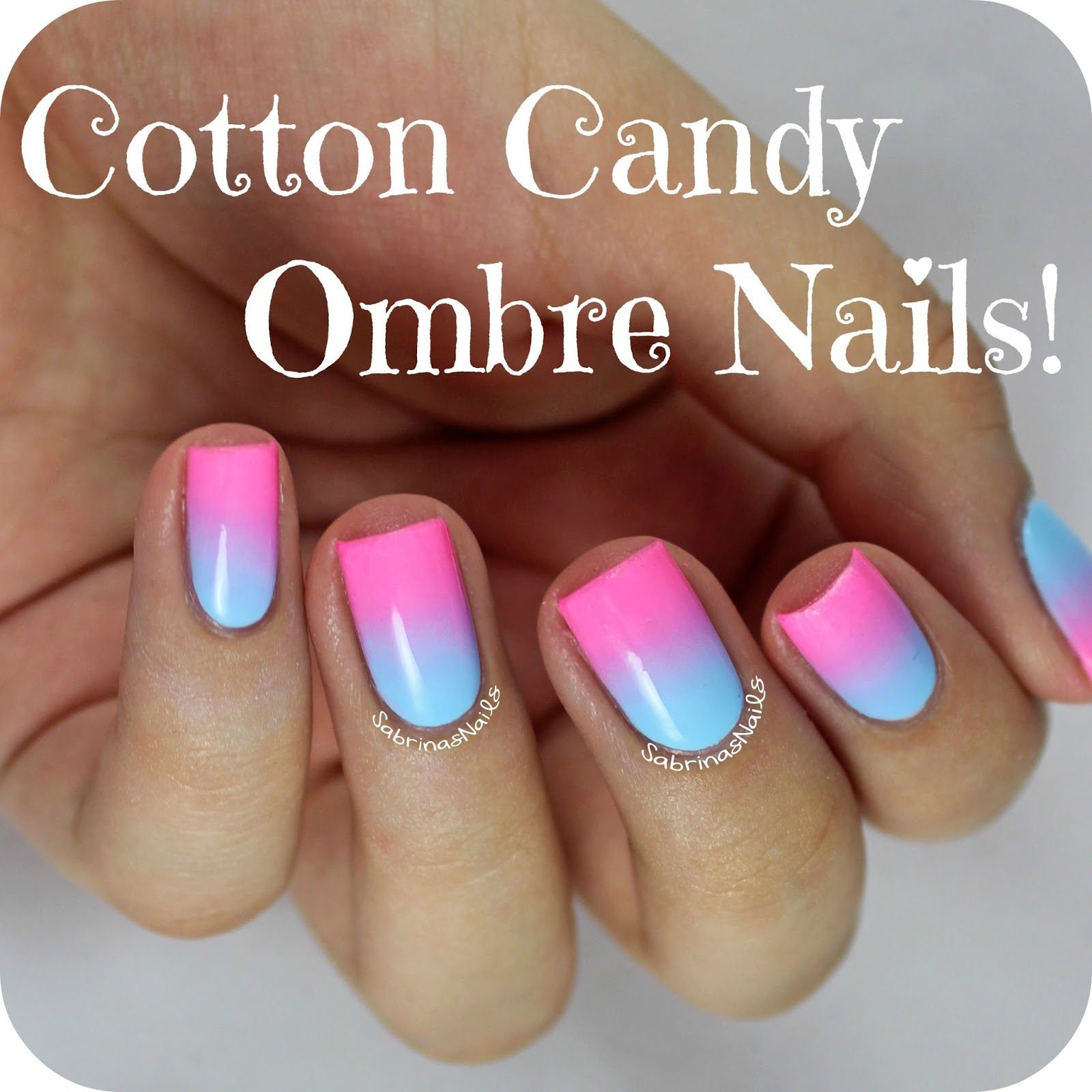 Cotton Candy Nail Color: Sabrinas Nails: Cotton Candy Ombre Nails