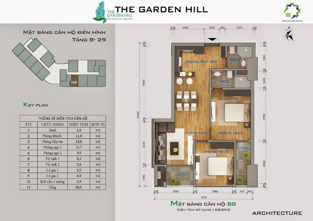 căn b8 chung cư the garden hill