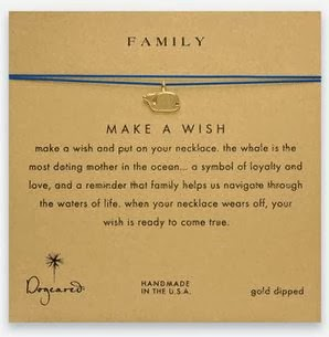 Dogeared family whale make a wish necklace