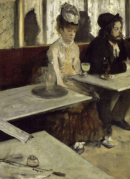Edgar Degas' 'L'Absinthe.' Photo: WikiMedia.org.