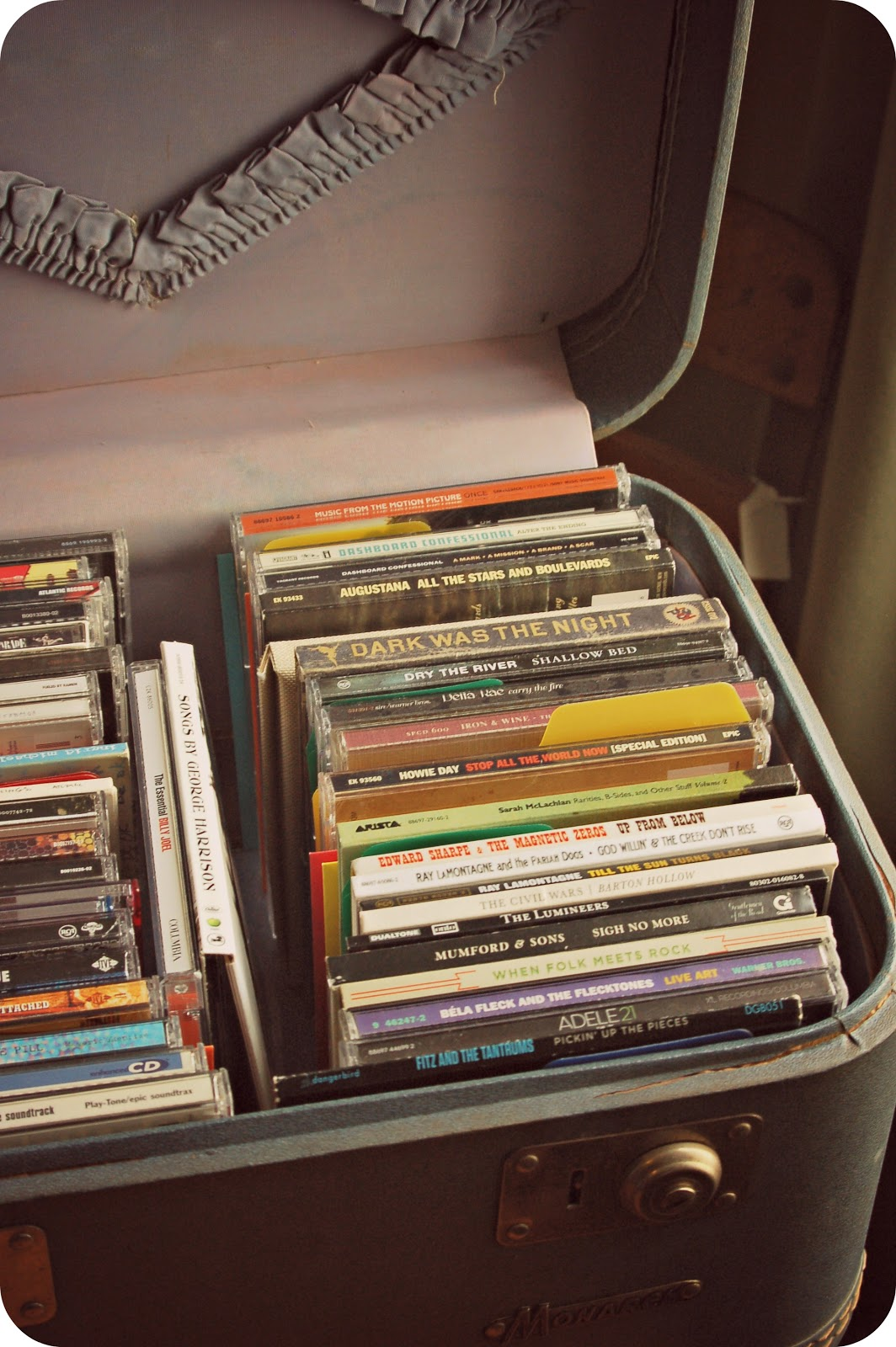 Suitcase as CD Storage