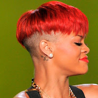 Rihanna bad wig red short