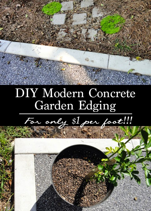Terra urbem diy modern concrete garden edging for Cheap diy garden edging