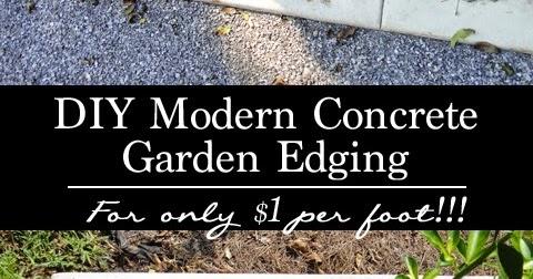 Terra Urbem DIY Modern Concrete Garden Edging - Diy concrete garden edging