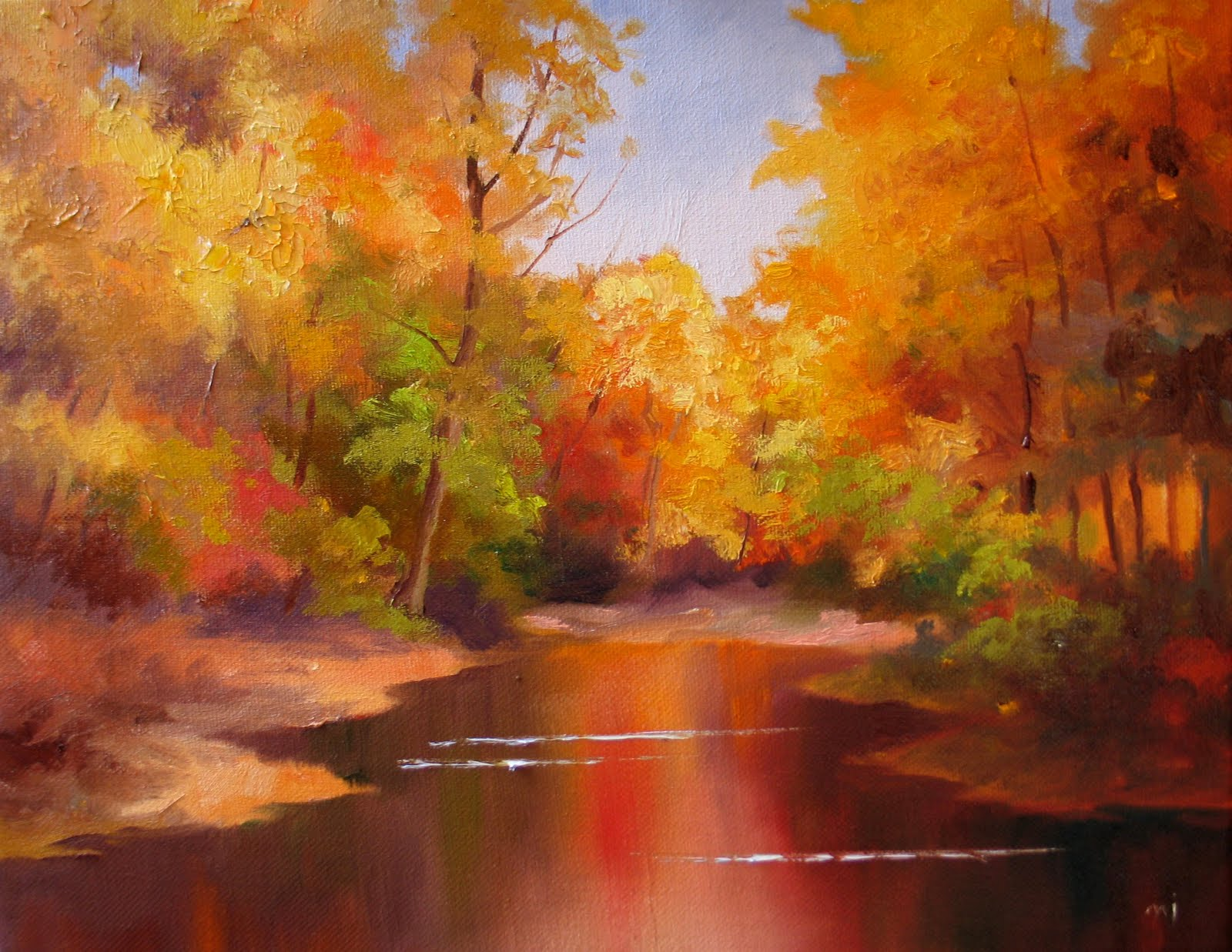 nel 39 s everyday painting fall color sketch sold