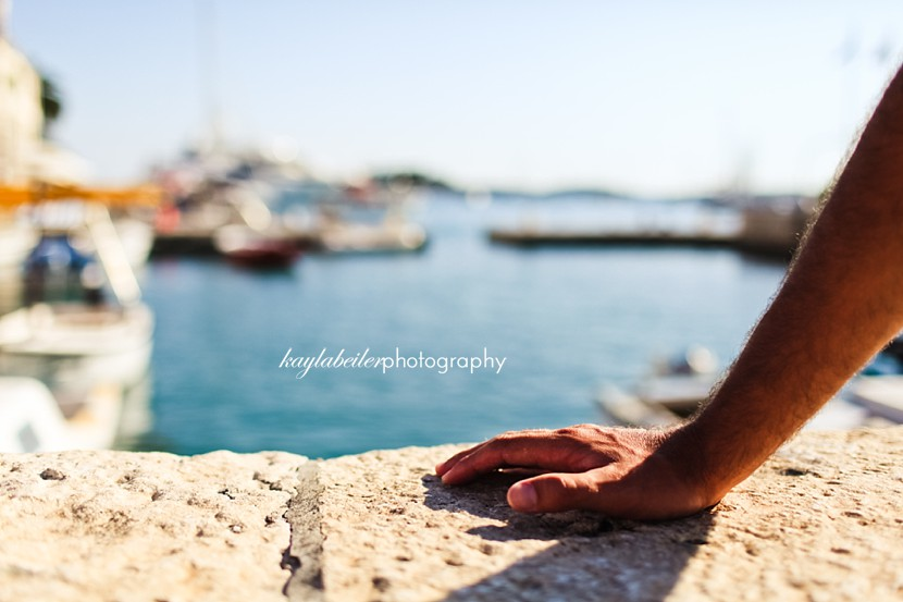 hvar sea wall photo