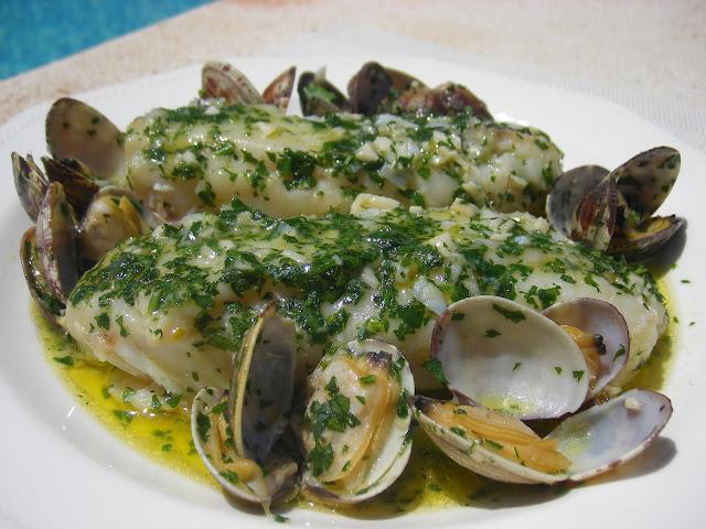 El placer del paladar merluza en salsa verde con almejas - Almejas con salsa verde ...