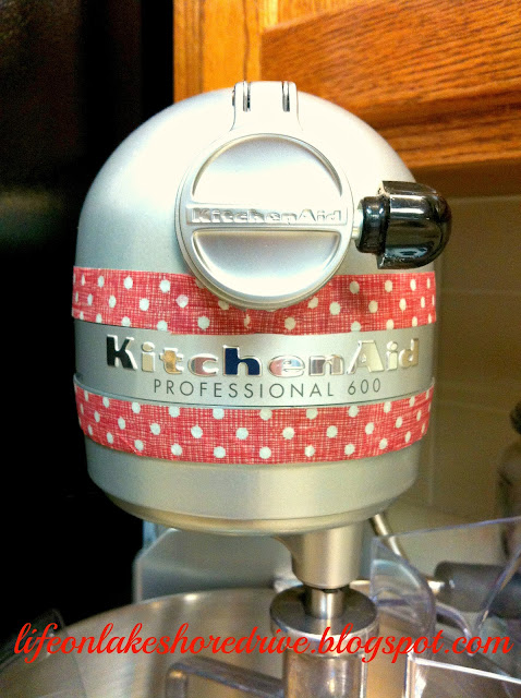 quick and easy Kitchaid Makeover using washi tape