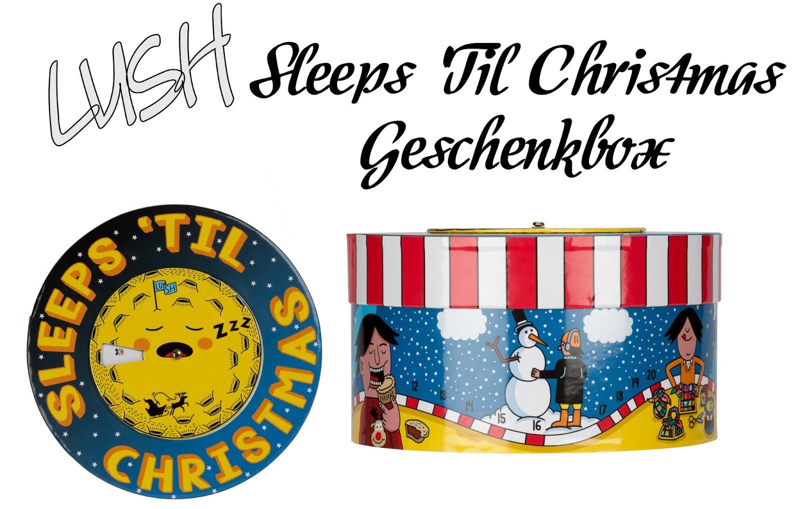 Adventskalender Gewinnspiel Türchen #2 mit Lush Sleeps 'Til Christmas Geschenkbox