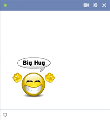 Big Hug Smiley For Facebook Chat