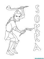 Mewarnai Gambar Sokka Dalam Serial Kartun Avatar Aang