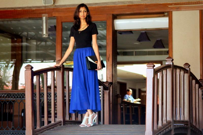 top indian fashion blog, blue maxi skirt indian fashion blog, valentines day dress indian fashion blog