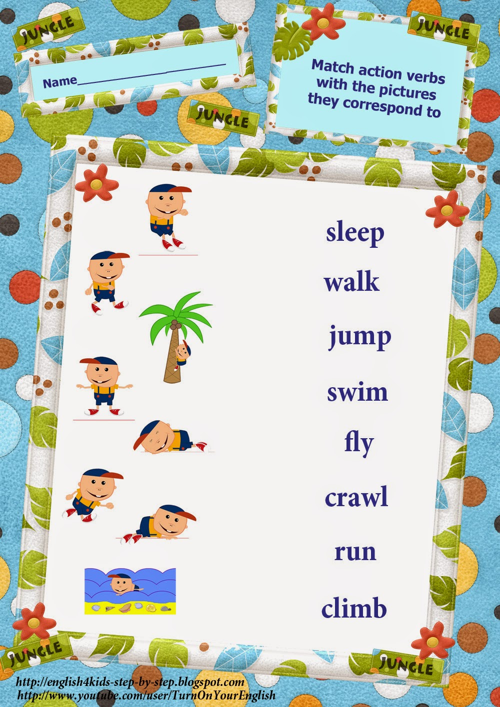 Action Words Worksheet – Action Words Worksheets for Kindergarten