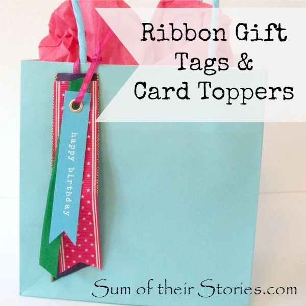 Ribbon Gift Tag and Card Topper