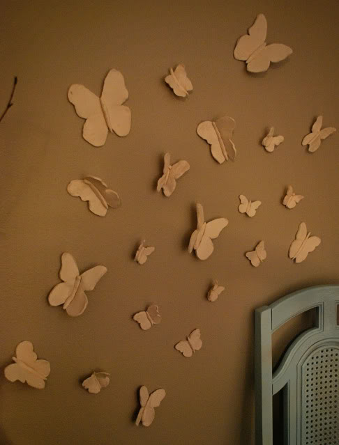Hanging Butterfly Wall Decor : D scanner image butterfly wall art