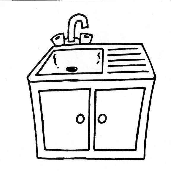 Dibujos infantiles dibujo infantil fregadero for Dibujos pared infantil