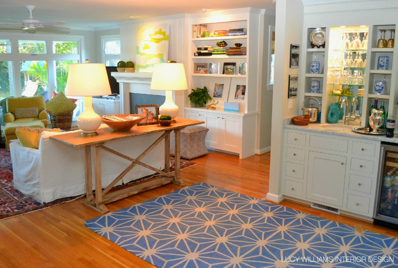 Lucy williams interior design blog custom console for Lucy williams interiors