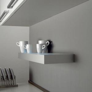 estante cocina balda luz cristal aluminio