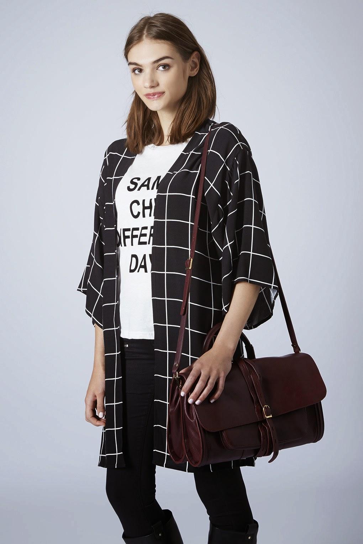 burgundy leather handbag topshop