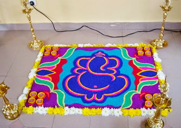 diwali rangoli decoration