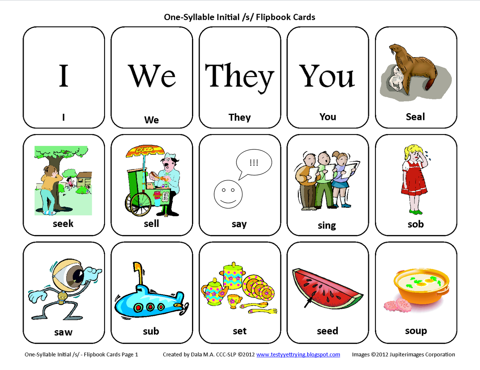 Testy yet trying: Initial S: Free Speech Therapy ...