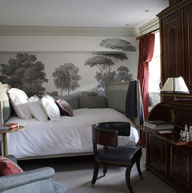 Inspiration scenic wall murals tapestry poppytalk for Etched arcadia mural wallpaper