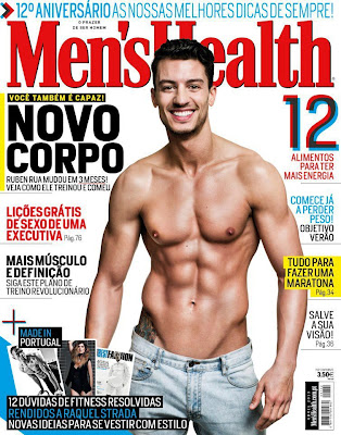 Foto de Rúben Rua para a Men's Health com Photoshop a mais