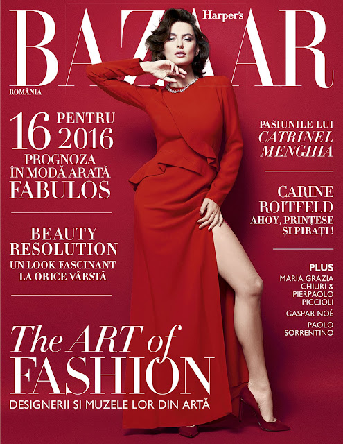 Fashion Model, @ Catrinel Menghia by Oltin Dogaru for Harper's Bazaar Romania, January/February 2016