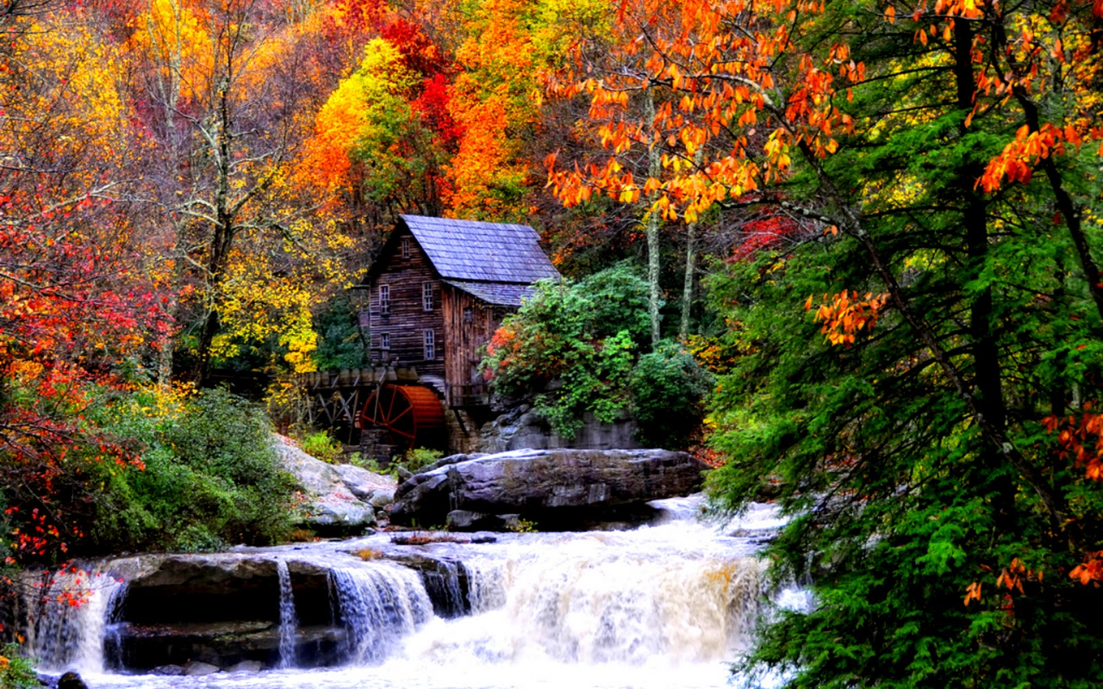 Wallpaper Collections Autumn Waterfalls