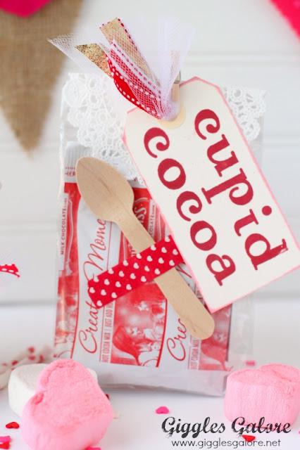 cupid cocoa valentines