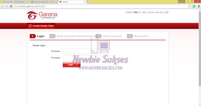 Step ini anda mengharus kan Memasukan lagi Username dan Password anda untuk mengatur Email anda.