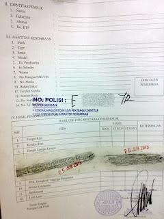 surat tanda cek fisik kendaraan