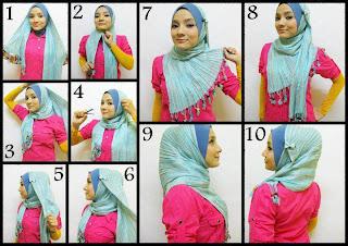 Tutorial Cara Memakai Hijab