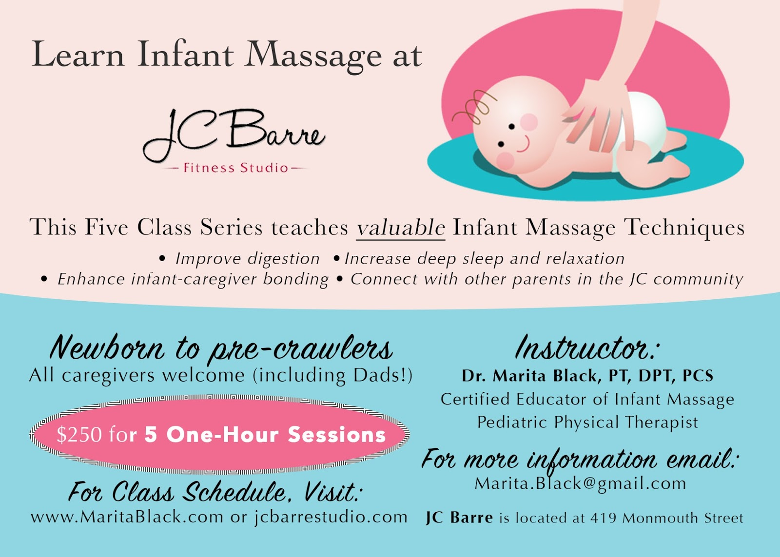 Dr Marita Black Pt Dpt Pcs Infant Massage Classes In Jersey City