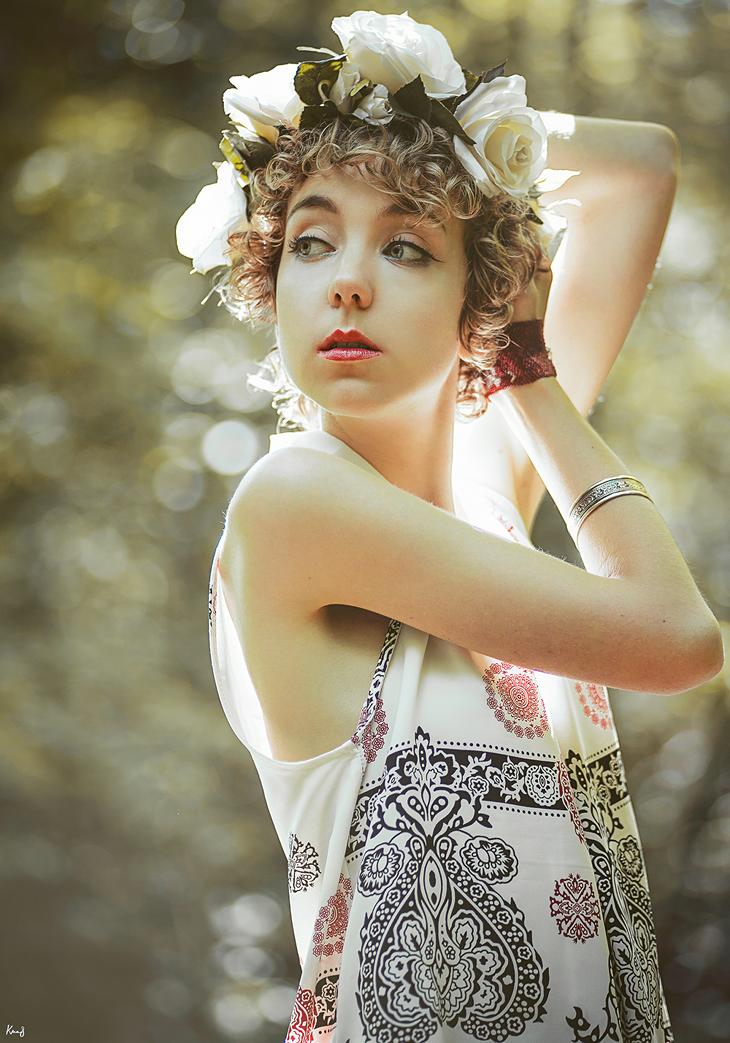 Portrait, fashion blog, photography, DIY flower crown