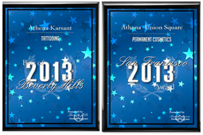 Athena Karsant won Best of Beverly Hills & San Francisco for Tattooing & Permanent Makeup