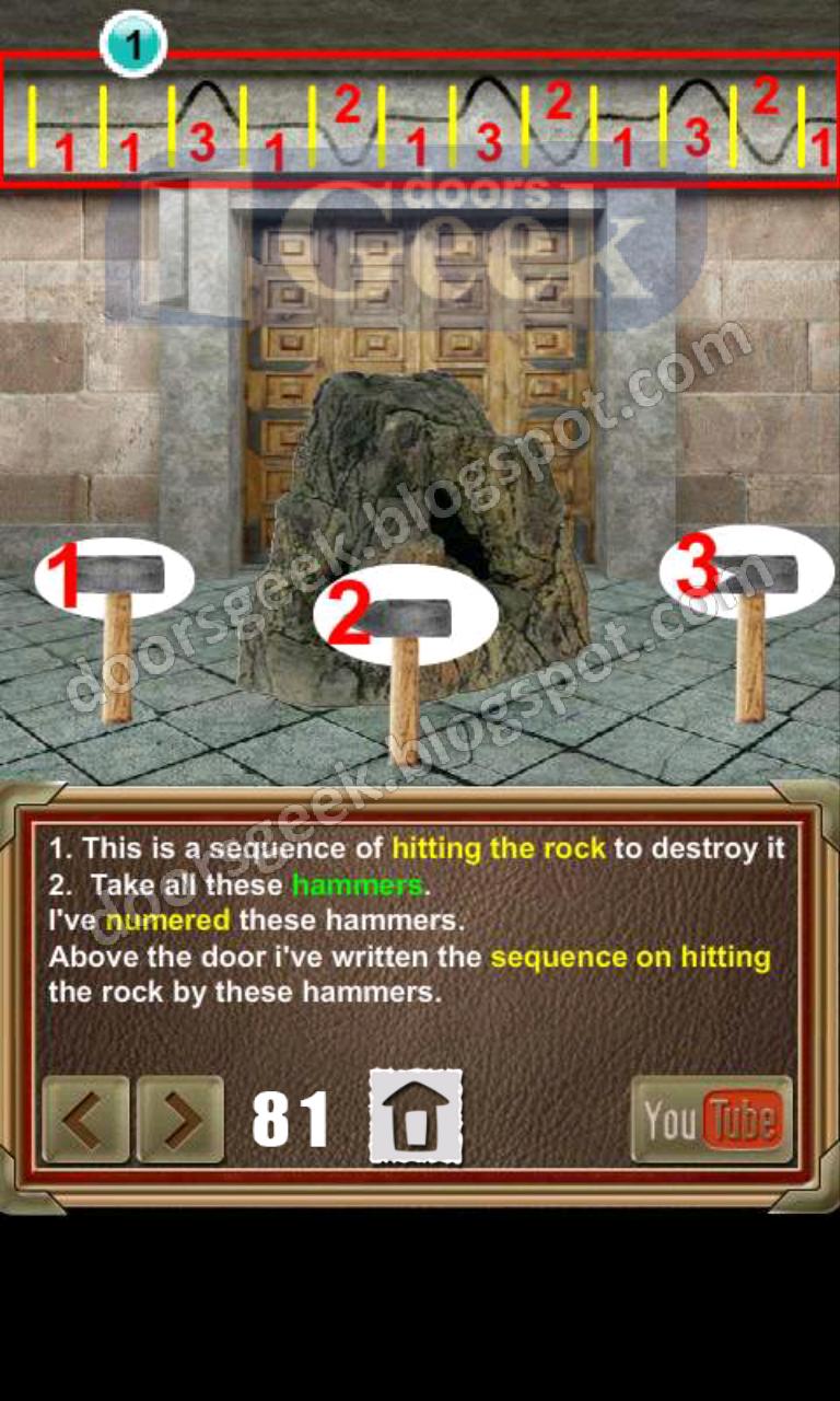 100 doors of revenge level 81 doors geek for 100 door of revenge