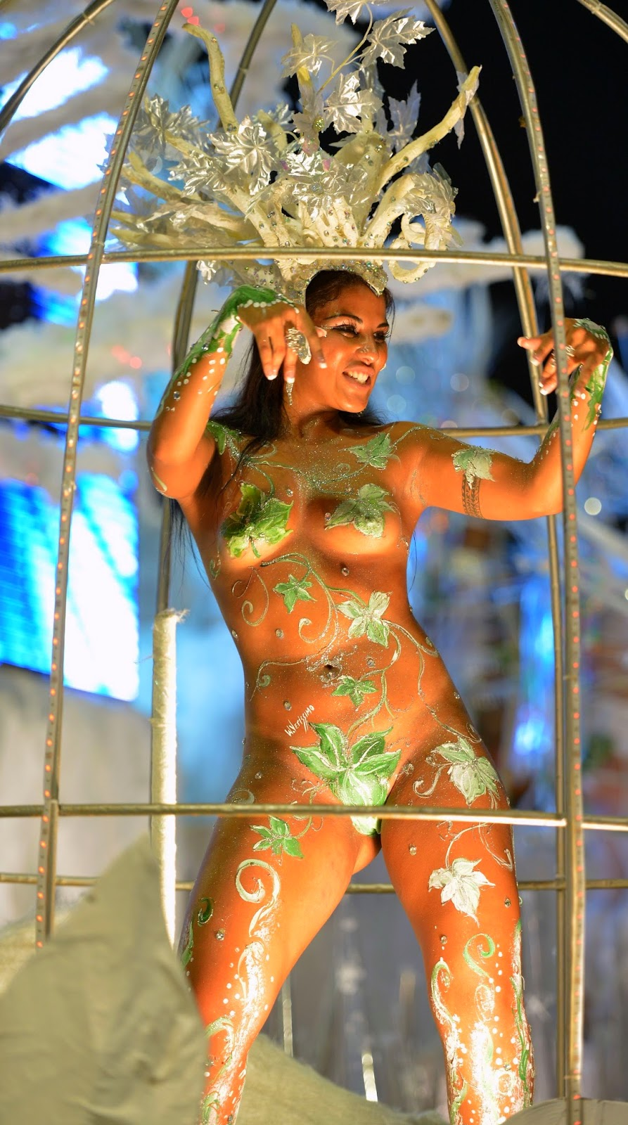 Голые красавицы на бразильском карнавале