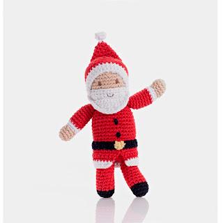 Christmas Santa Rattle
