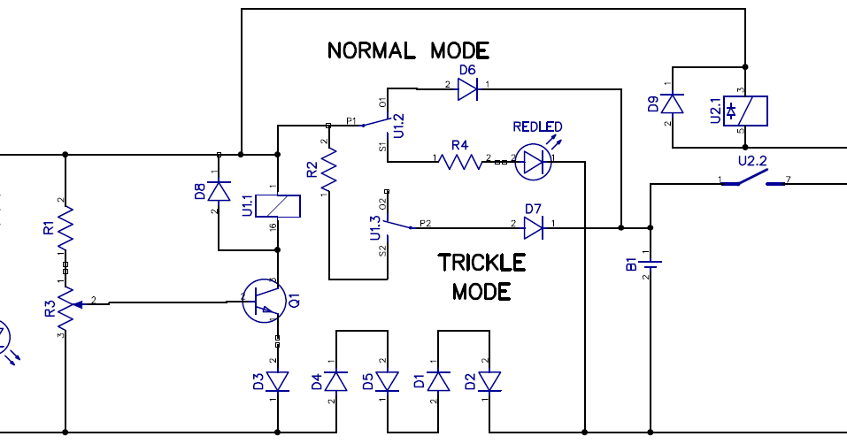 Modified Battery Charger Circuit Problem Discussed