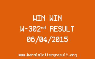 Win Win W 302 Lottery Result 6-4-2015
