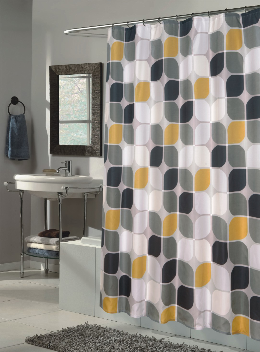 Amazing Mid Century Modern Shower Curtain