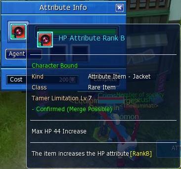 Digimon Masters Equipment Attributes
