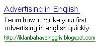 iklan bahasa inggris