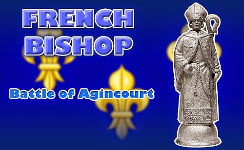 Battle of Agincourt Medieval French Bishop Chess Piece